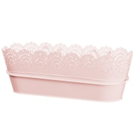 Decorative Hooked Planter Trough - Pink