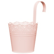Decorative Hooked Plant Pot - Pink