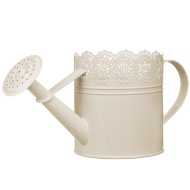 Decorative Watering Can - Cream