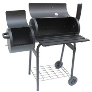 Alabama Steel Barrel Charcoal Smoker & BBQ