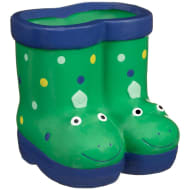 Kids Novelty Wellie Planter - Dinosaur