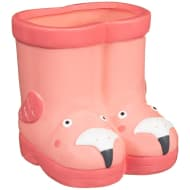 Kids Novelty Wellie Planter - Flamingo