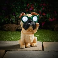 Solar Resin Dog with Sunglasses - Green