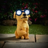 Solar Resin Dog with Sunglasses - Blue