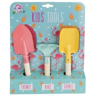 Kids Garden Tools 3pk - Flamingo