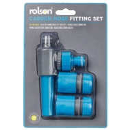 Rolson Garden Hose Fitting Set - Blue