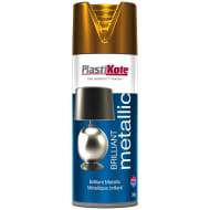 Plastikote Brilliant Metallic Spray Paint 400ml - Copper