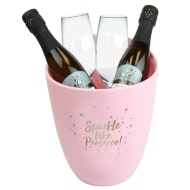 Prosecco Bucket & Glasses Set - Pink