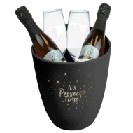 Prosecco Bucket & Glasses Set - Black