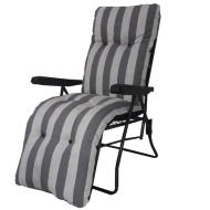 Padded Relaxer Chair - Grey