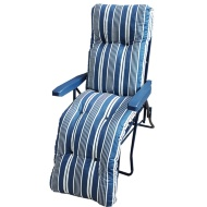 Padded Multi Position Garden Relaxer - Navy Stripe