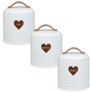 Heart Tea - Coffee - Sugar Set 3pc - Copper