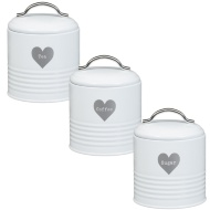 Heart Tea - Coffee - Sugar Set 3pc - Silver