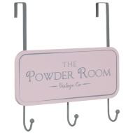 Overdoor Slogan Hooks - Powder Room
