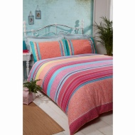 Cuba Piped King Duvet Set - Brights
