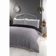Boho Piped Double Duvet Set - Mono