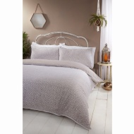 Boho Piped Double Duvet Set - Natural