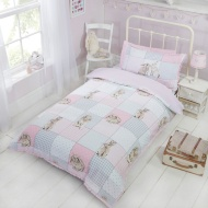 Kids Single Bunny Duvet Set - Pink