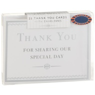 Thank You Cards 25pk - Silver