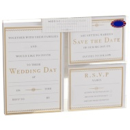 Wedding Invitations Pack 3 x 10pk - Gold