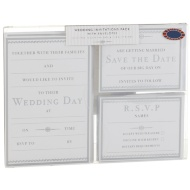 Wedding Invitations Pack 3 x 10pk - Silver
