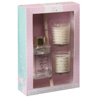 Diffuser & Votive Candles Set - One in a Million