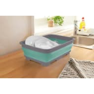 Addis Collapsible Washing Up Bowl - Aqua & Grey