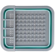 Addis Collapsible Dish Drainer - Aqua & Grey