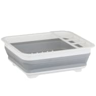 Addis Collapsible Dish Drainer - Grey & White