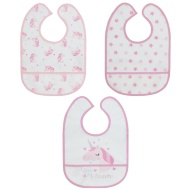 Baby Waterproof Bibs 3pk - Unicorn