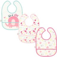 Baby Waterproof Bibs 3pk - Elephant