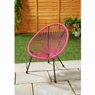 Kids Hawaii String Chair - Pink