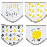 Baby Dribble Bibs 4pk - Little Smiler