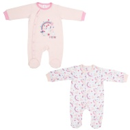 Baby Sleepsuit 2pk - I Love Unicorns