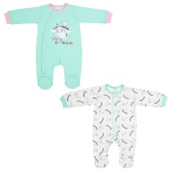 Baby Sleepsuit 2pk - Little Llama Dreams