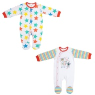 Baby Sleepsuit 2pk - Little Star