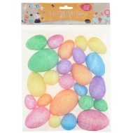 Glitter Craft Eggs 24pk
