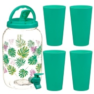 Drinks Dispenser & Tumblers Set 3.6L - Leaf
