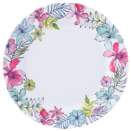 Round Printed Dinner Plate - Floral
