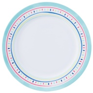 Round Printed Dinner Plate - Turquoise