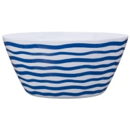 Large Printed Serving Bowl - Navy Stripes