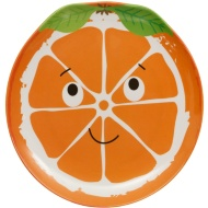 Kids Fruit Picnic Plate - Orange
