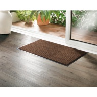Addis Ribbed Dirt Grabber Doormat - Brown