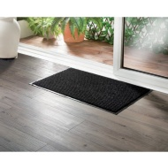 Addis Ribbed Dirt Grabber Doormat - Black
