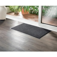 Addis Ribbed Dirt Grabber Doormat - Grey
