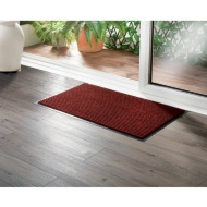 Addis Ribbed Dirt Grabber Doormat - Red
