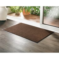 Addis Large Ribbed Dirt Grabber Doormat - Brown