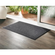 Addis Large Ribbed Dirt Grabber Doormat - Grey