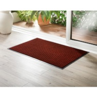 Addis Large Ribbed Dirt Grabber Doormat - Red