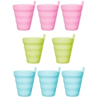 Straw Cup Tumblers 8pk